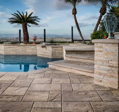 Belgard Lafitt Rustic Slab Paver Pool Deck